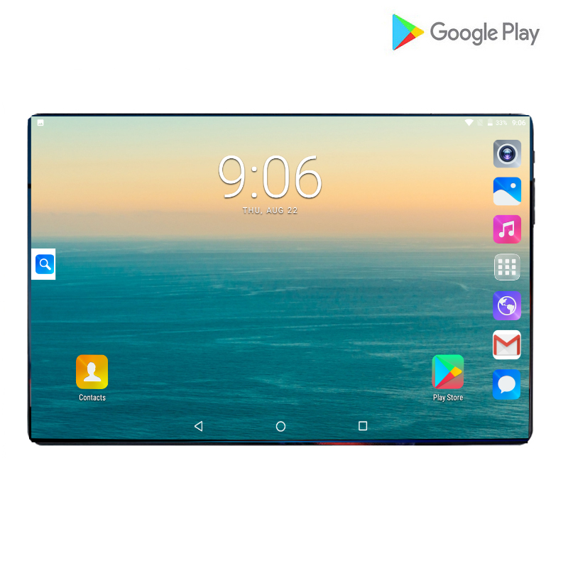 2019 New 10.1 Inch Android 9.0 Tablet Pc 6GB And 64GB  128GB Dual SIM Card 1920*1280 HD Large Screen Dual Camera 8 Core Tablets