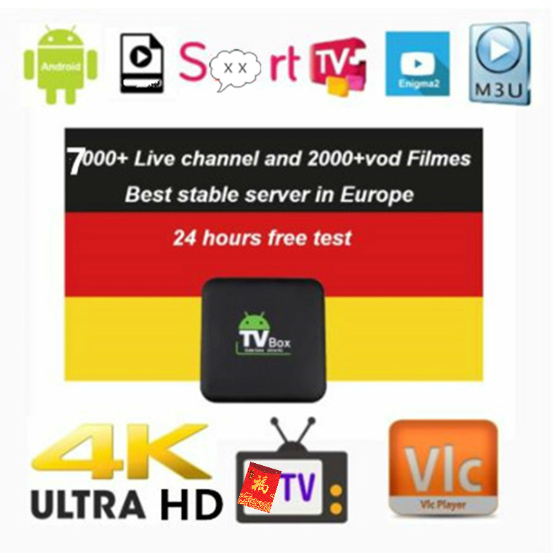 6/12 Months Germany IPTV  French IPTV VOD Arabic IPTV UK Netherland Tv For Android M3u Enigma2 4000+Channels  XXX