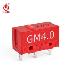 8 pièces Kailh micro interrupteur 60 M vie souris de jeu micro interrupteur 3 broches point rouge utilisé sur ordinateur souris gauche bouton droit
