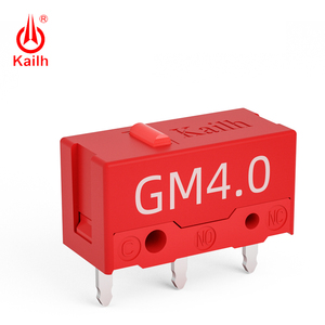 Image 1 - 8pcs Kailh micro switch 60M life  gaming mouse Micro Switch 3 Pin red dot used on computer mice left right button kailh gm red