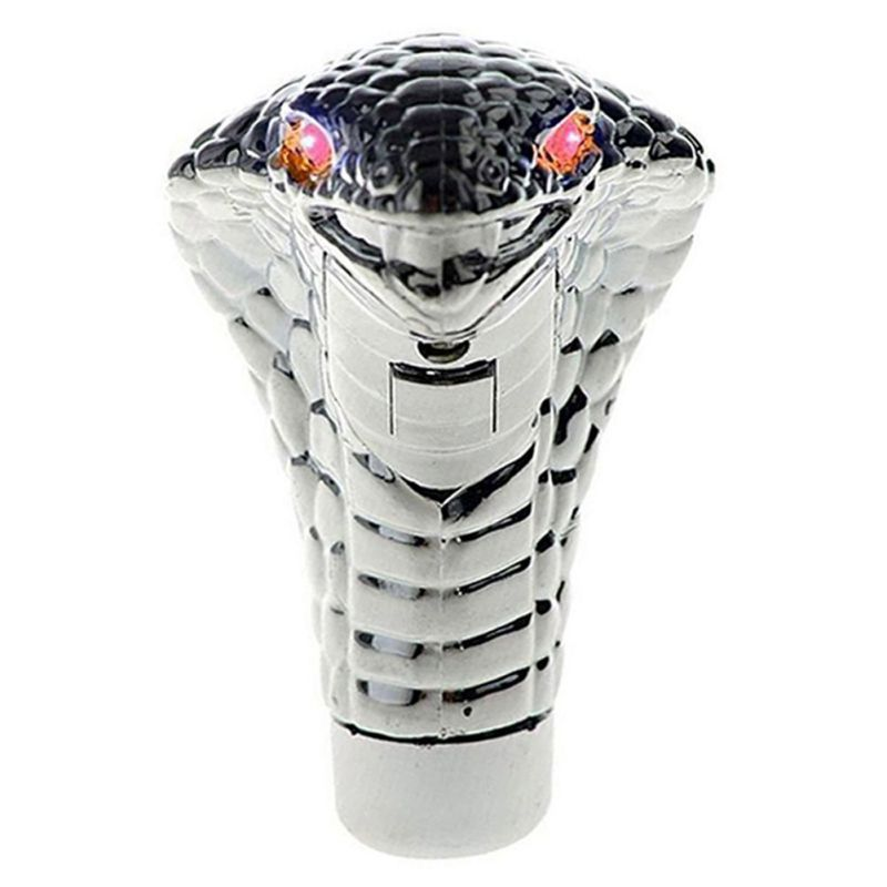 ONEWELL Universal Auto Car Manual เกียร์ SHIFT KNOB Stick ตา LED Chrome Cobra งู Cool SHIFT LEVER