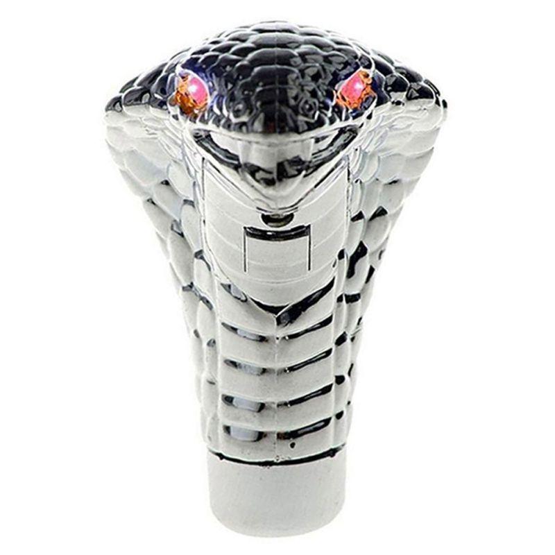 ONEWELL evrensel oto araba manüel vites topuzu sopa Led gözler krom kobra yılan serin vites kolu