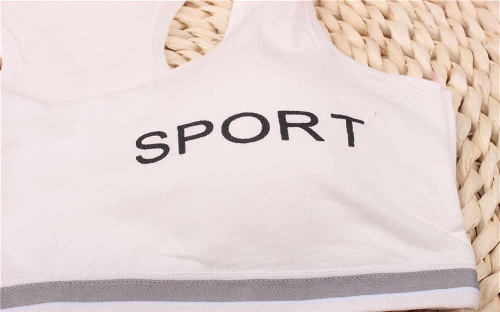 Ropa interior para niñas, sujetador, ropa interior de yoga para niños, ropa interior deportiva, chaleco para niñas, Camiseta deportiva de algodón superior