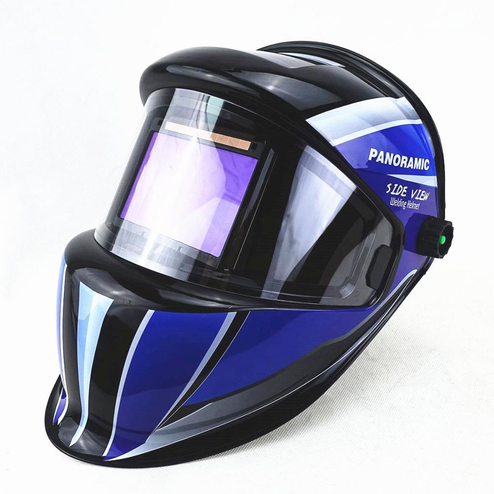 Tools : Welding Helmet 3 Side View DIN 5-9 9-13 Optical Rating 1111 4 Sensors True Color EN379 ANSI CSA Auto Darkening Welding Mask