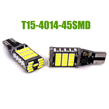 100xT10 T15 Canbus W16W 921 High Power 45 SMD 4014 LED Canbus No ERROR Car Backup Reserve Lights Bulb Brake Lamp
