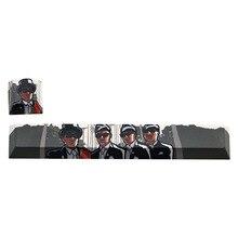 2pcs Personalized Esc Keycap Spacebar Cap Pbt Custom Mechanical Keyboard Coffin Dance Dancing Pallbearers Meme ESC+Spacebar