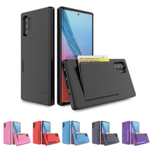 For Samsung Galaxy Note 10 Case Dual Layer TPU PC Hybrid Cover Shockproof Anti-scratch Protective Shell Plus Card