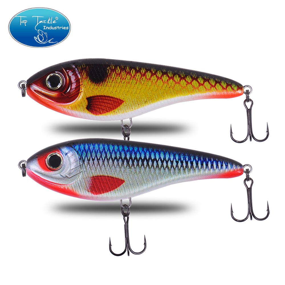 CF Lure  90&120&150&170mm (Color 1~50)  Slow Sinking  Jerkbait  Musky Pike Slider Bass Fishing Lure Tackle