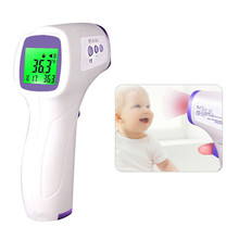 цены Non-contact Infrared Thermometer Forehead Thermometer LCD Digital Baby Termometro Digital Ear Non-contact Infrared Thermometer