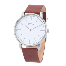 TPW Men's Analog Quartz Watch Leather Strap Wristswatch for Men Simple Style Casual Business Japan Movement Accurate