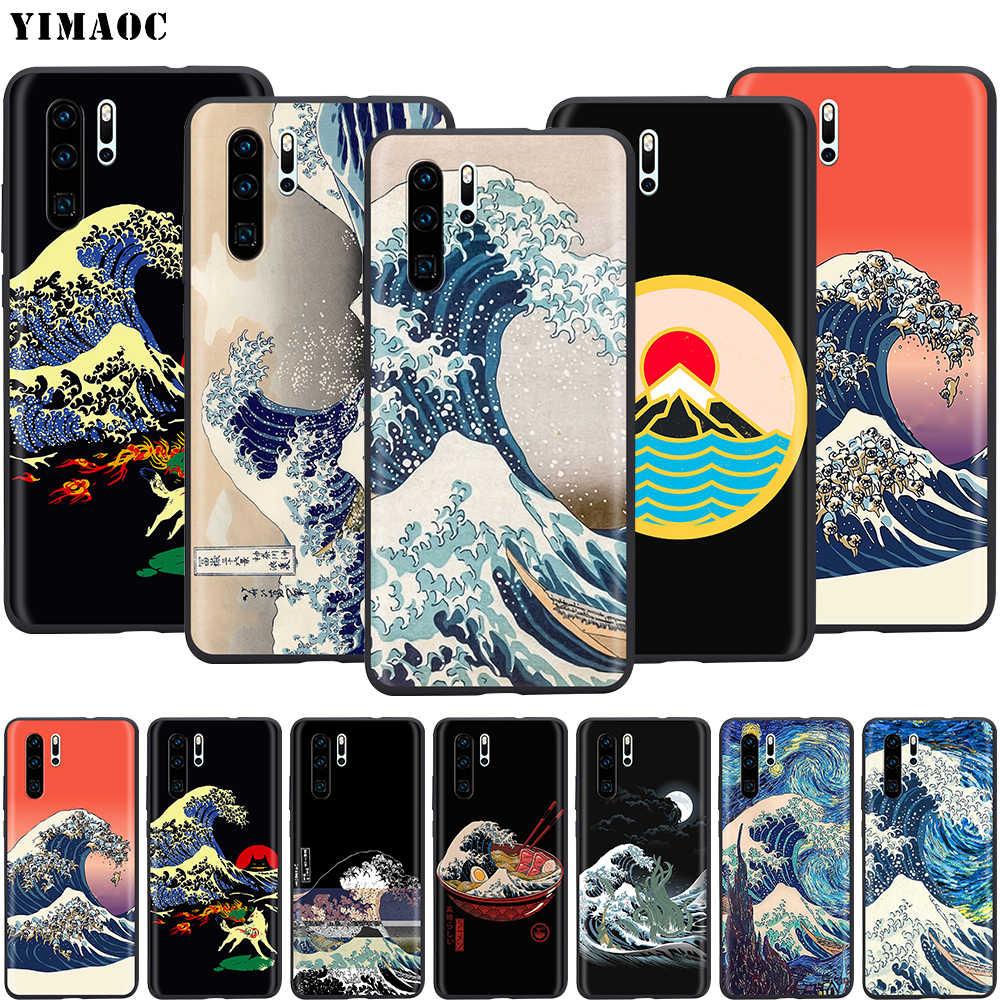 YIMAOC la grande vague hors Kanagawa japonais Silicone étui pour huawei Mate 10 P8 P9 P10 P20 Lite Pro P Y7 Y9 Smart Mini 2017 2018
