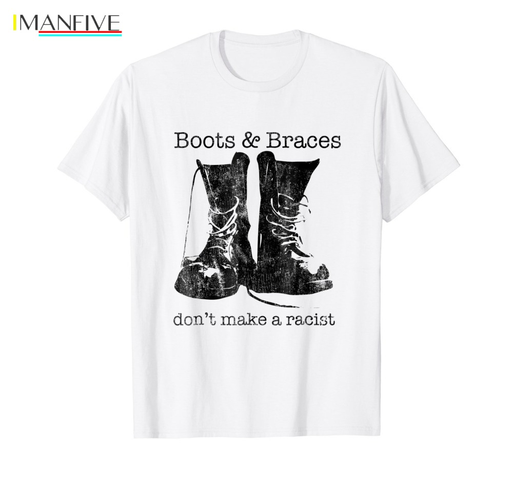 New 2019 Funny Print T Shirt Men Hot Boots amp Braces Shirt Skinhead T Shirt Anti Racist Skins Brand Clothing in T Shirts from Men 39 s Clothing