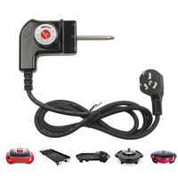 DMWD 1,5 M Power Kabel/5 Getriebe Temperatur Control Schalter/Koppler Stecker 3 In 1 2500W Eintopf grill Maschine Zubehör