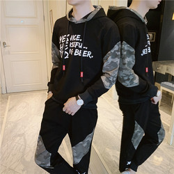 Autumn Clothing Men Trend Sports Casual Two-Piece 2019 New Style Teenager Long Sleeve Hoodie Set Men'S Wear