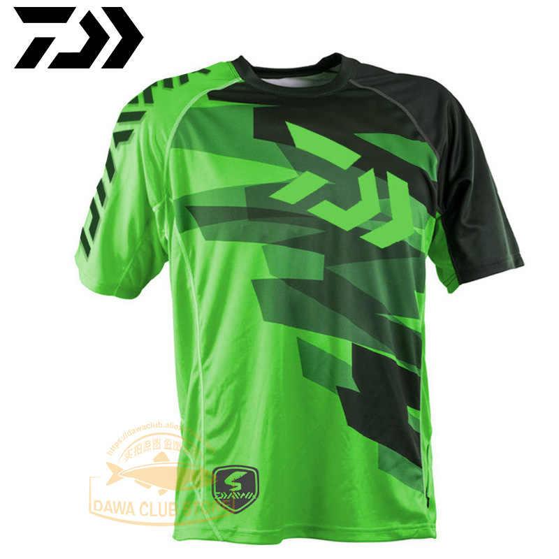 2020 DAWA letnia koszula wędkarska odzież wędkarska z krótkim rękawem ochrony przeciwsłonecznej oddychające ubrania anty-uv DAWA koszula wędkarska