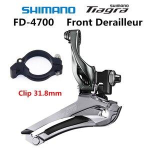 Image 4 - Shimano TIAGRA FD 4700 F Front Derailleur 2x10 Speed Bicycle FD 4700 Front Derailleur Braze on