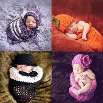 newborn photography props sleeping bag  infant costume outfit crochet baby clothes boy accessories girl boys clothing 1set newborn police design photography props infant toddler costume outfit crochet