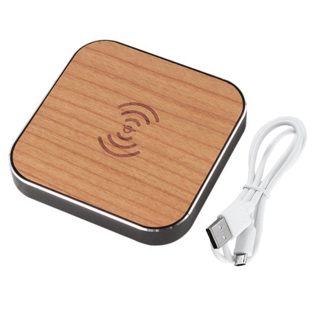 Desktop <font><b>Fast</b></font> Charging Station Portable Wooden Wireless <font><b>Charger</b></font> QI Charging Pad For Galaxy Note 5 4 3 For iPhone image