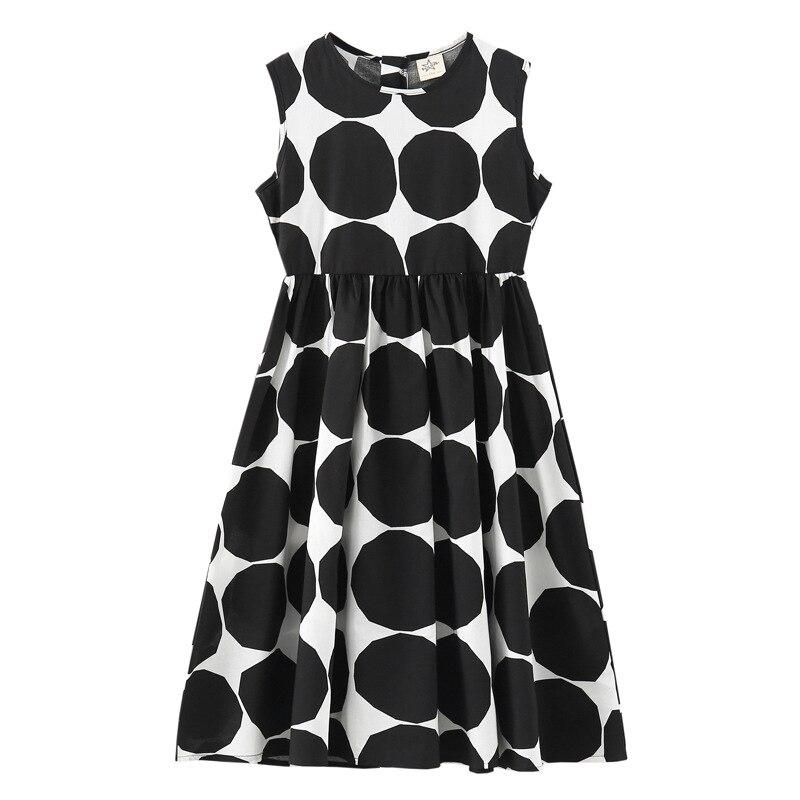 Image 3 - Летнее платье для девочек 2020 г., новое пляжное хлопковое детское длинное платье в горошек платье для мамы и дочки летнее платье для детей ясельного возраста одежда для подростков #5077Платья   -