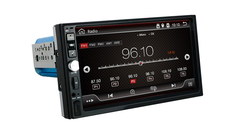 Eunavi 7 zoll 2 din Android 10 Universal Car Multimedia Radio Stereo-Player GPS navigation IPS Bildschirm touch autoradio steuergerät