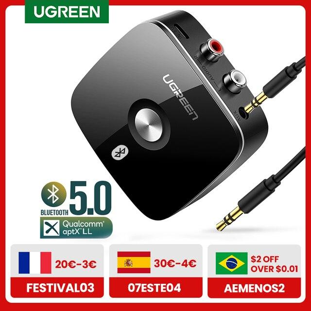 UGREEN Bluetooth RCA Receiver 5.0 aptX LL 3.5mm Jack Aux Wireless Adapter Music for TV Car RCA Bluetooth 5.0 Audio Transmitter 1