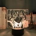 Mikaela Hyakuya светодиодный ночной Светильник Seraph of The End для спальни Декор подарок светильник аниме 3d лампа Mikaela Seraph of The End