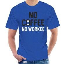 2020 casual elegante retro camiseta 100% algodão nenhum café não workee @ 022336