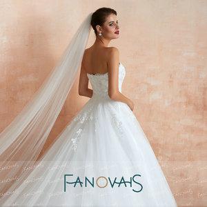 Image 5 - Bretelles dentelle robes de mariée 2019 Vintage une ligne Robe de mariée Robe de Novia princesa gelinlik Robe de mariée