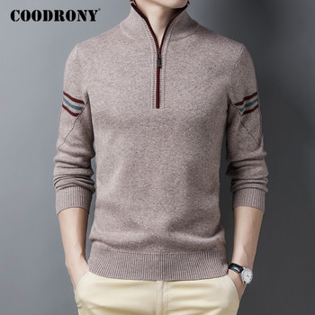 COODRONY 100% Merino Wool Zipper Turtleneck Sweaters Thick Warm Winter Sweater Men Cashmere Pullover Fashion Casual Jumper C3056 coodrony brand sweater men zipper turtleneck cardigan men clothing autumn winter thick warm 100% merino wool sweater coat p3026