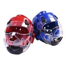 Тхэквондо маска для лица каратэ шлем Легкий взрослый Молодежный детский спортивный бой боксёрские ММА голова защита Шестерня страйкбол прозрачная маска