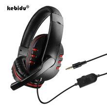 Wired-Bass-Headphones Computer Gaming-Headset Mobile-Phone Laptop Stereo Kebidu