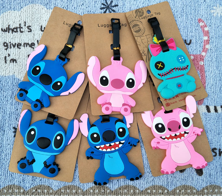 1pcs Stitch Angle Anime Travel Brand Luggage Tag Suitcase ID Address Portable Tags Holder Baggage Label New