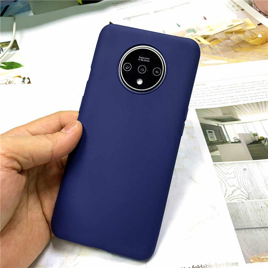 Carcasa mate Color caramelo para Oneplus 7t Pro 6t Funda para teléfono tapas blandas finas para One Plus 6 7 Etui Funda Delgada Funda mate
