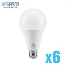 6 uds lámpara LED 9W 12W 15W 18W Bombilla LED E27 día blanco cálido blanco frío 220V ampolla Bombilla lámpara LED luz para la decoración del hogar