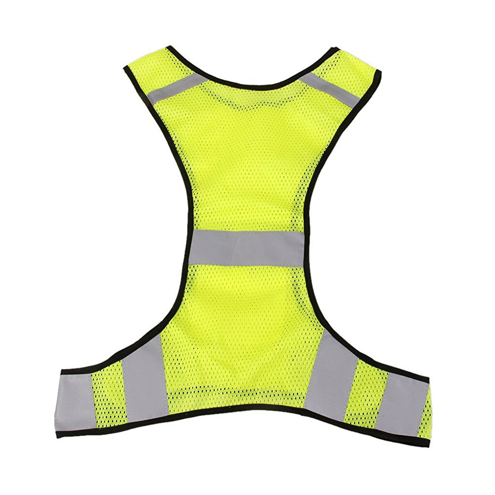 Reflective Jacket Safety Vest For Running Jogging Walking Bike Luciffer Night Work Yellow Security Equipment Fluorescent Gear