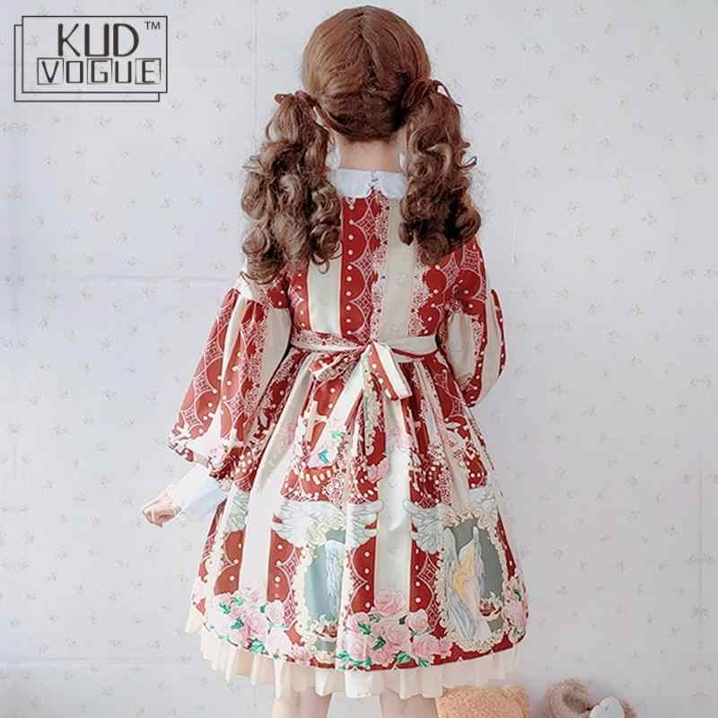 Lolita elbise japon tarzı tatlı Jsk gotik elbise kızlar için prenses viktorya ortaçağ Retro Cosplay bebek hizmetçi parti giysileri