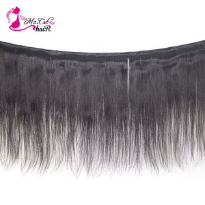 Image 2 - Ms Cat Hair 3 Bundles Deal with Closure 4 Pcs/Lot Brazilian Straight Hair Remy Human Hair Bundles With Closure & Baby Hair