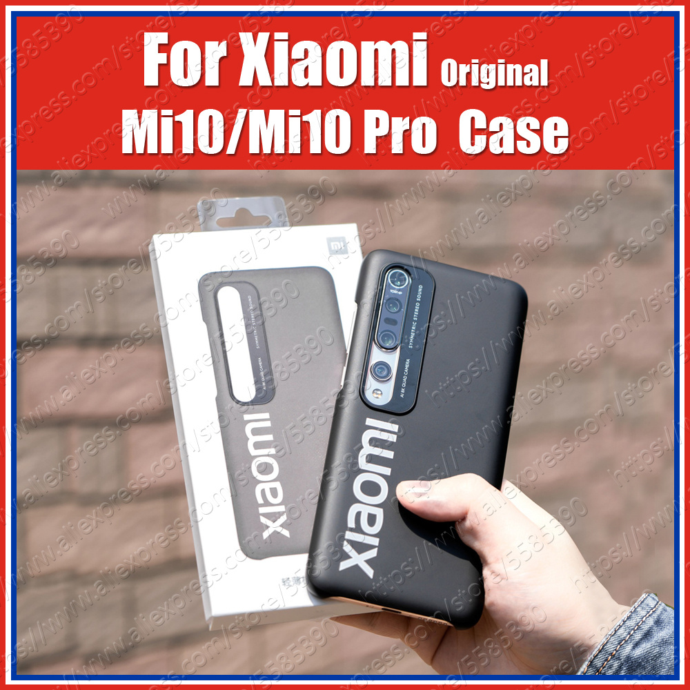 Top Closed Mi10 Pro Official Original Xiaomi Mi 10 Pro Case Mi10 PC thin Back Cover