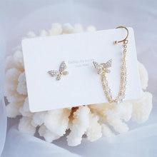 Модные серьги бабочки превосходного качества для женщин инкрустированные