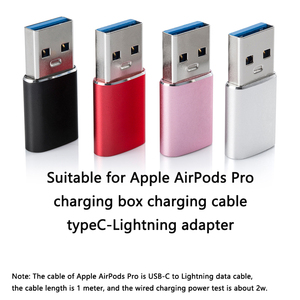 Image 2 - Adapter for Airpods pro charging box charger connector for airpods 3 earphone accessories charging cable adapter type C to USB