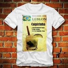 Caipirinha Rio Brasilien Cocktail Alkohol Alkohol Rezept Rezept Herren Rundhals Baumwolle Mode Coole Tops T Shirts
