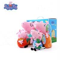 Original Brand 4Pcs/set Peppa Pig Stuffed Plush Toy 19/30cm Peppa Pig toys George Family Party Dolls Christmas Gift For Children