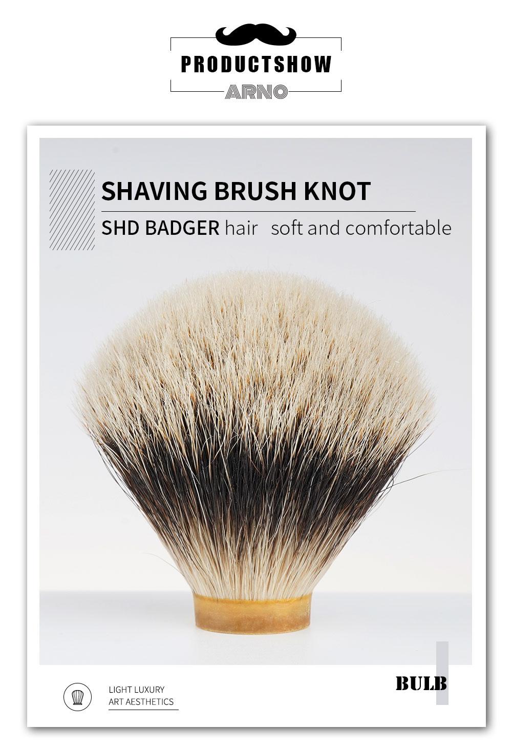 ARNOBRUSH-SHD melhor dois banda-distante hill texugo cabelo escova de barbear nós