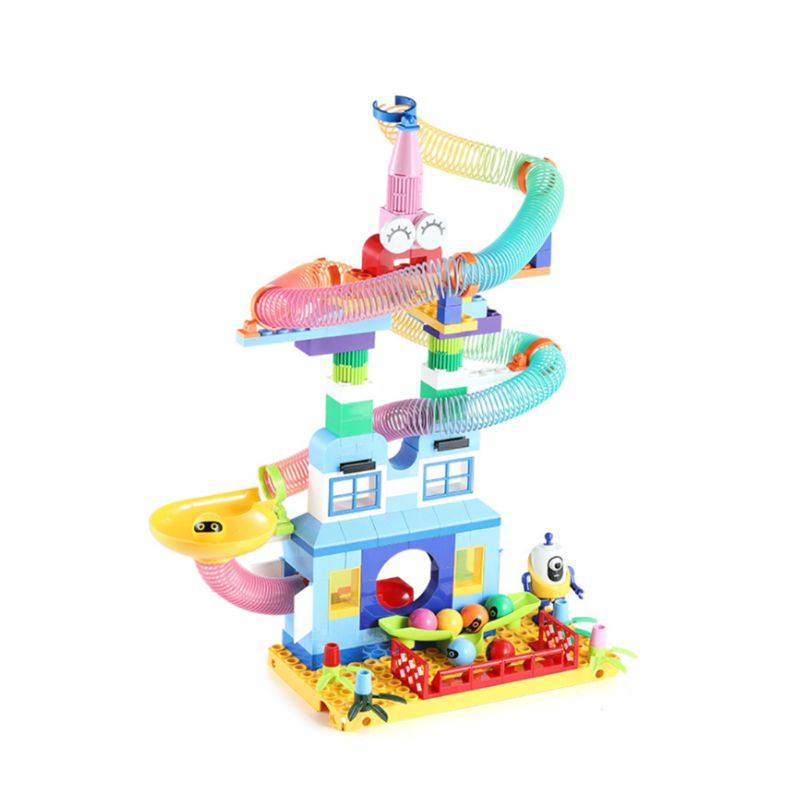 Arc-en-ciel Tube bloc de construction bricolage assemblage Puzzle jeu enfants jouet éducatif
