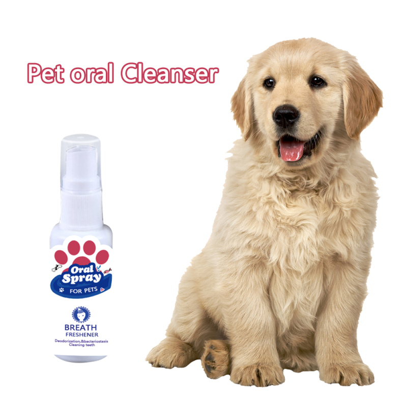 30ml Pet Mouth Freshener Dog Cat Antibacterial Teeth Breath Cleaning Freshener Oral Spray Treatment