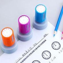 1 pc quente aprendizagem reconhecimento professor selo de ensino relógio dial selos selo escola primária crianças brinquedos 30mm no diâmetro