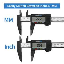 Digital Caliper, 0-150mm(0-6 inches) Vernier Caliper with Large LCD Screen, Auto - off Feature, Inch and Millimeter Conversion M