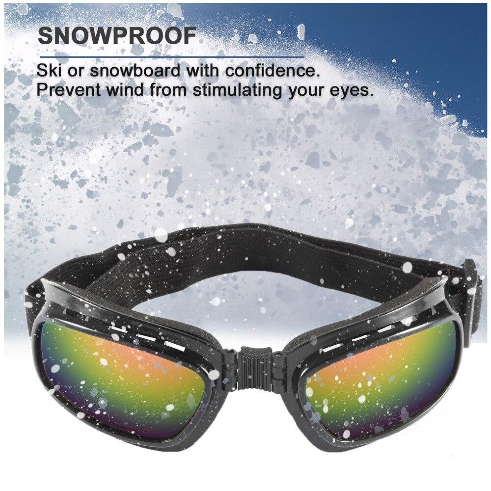 Hot Adjustable Elastic Band Folding Vintage Motorcycle Glasses Windproof Dustproof Ski Goggles Off Road Racing Eyewear Glasses