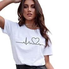 Female O-neck T-Shirts Summer Short Sleeve T Shirt Women Har
