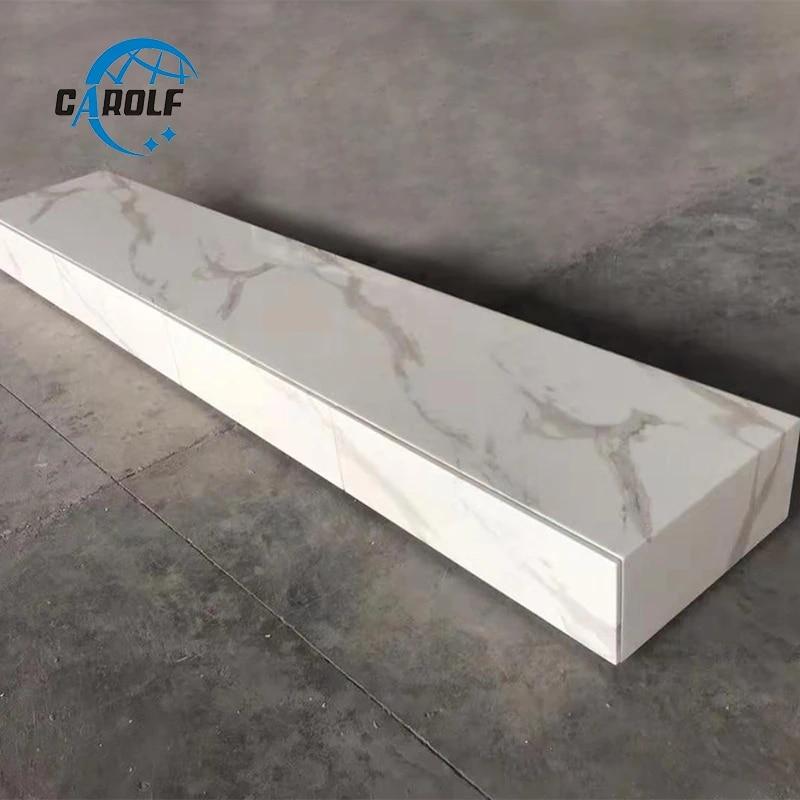 meuble tv moderne en marbre blanc avec grand espace de rangement prix abordable